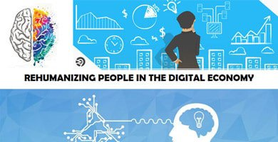 Graphic about rehumaizing people in the digital economy
