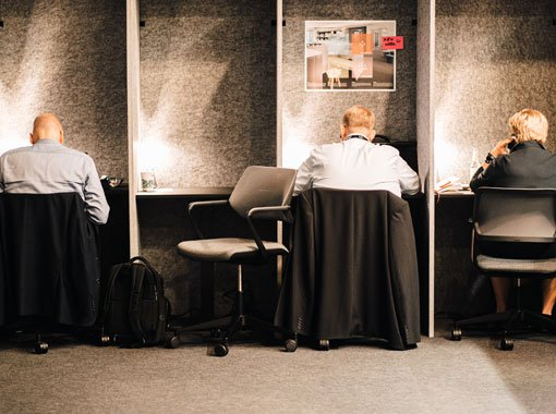 Single Workingspace at the Executive Lounge of Zukunft Personal Europe